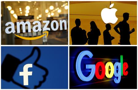 UPDATE 3-FTC demands data on small buys by Google, Amazon, Apple, Facebook, Microsoft