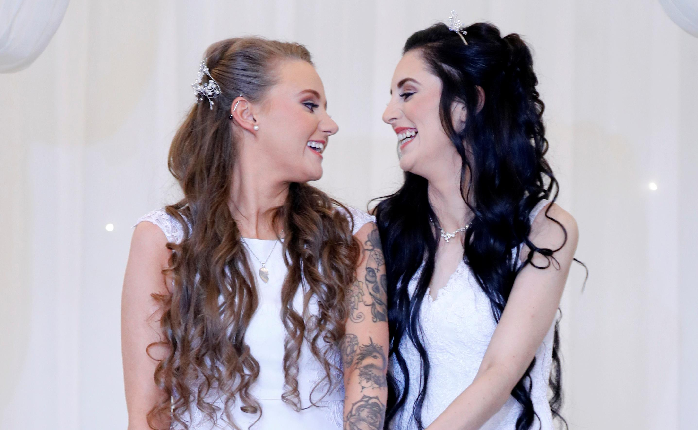 Image result for Here come the brides in Northern Ireland's first same-sex marriage