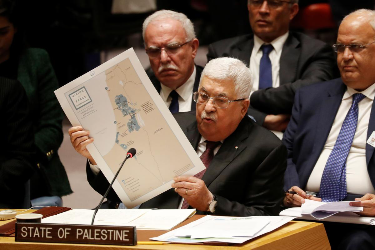 Palestinians' Abbas, at U.N., says U.S. offers Palestinians 'Swiss cheese' state