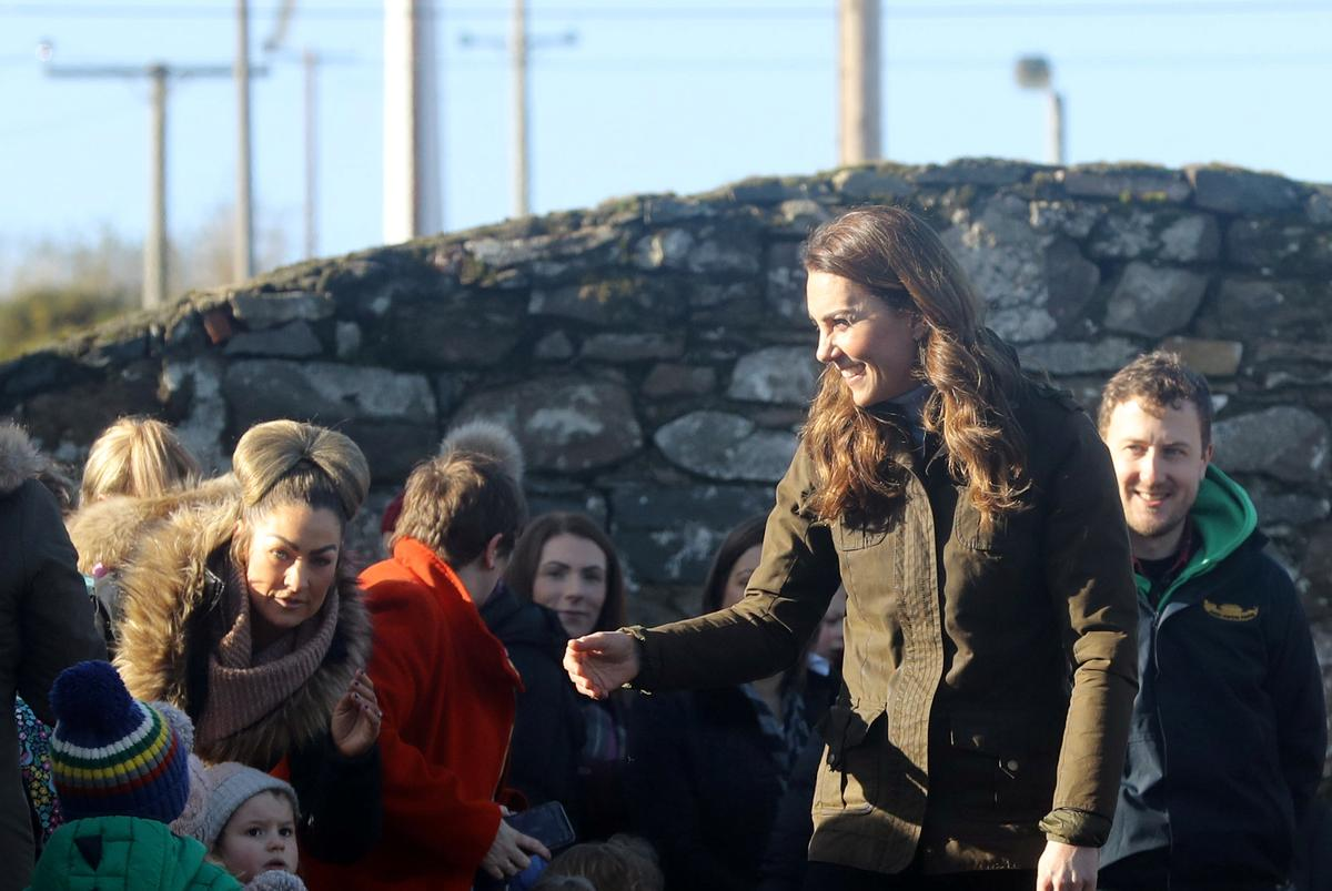 Britain's duchess Kate makes first solo visit to Northern Ireland
