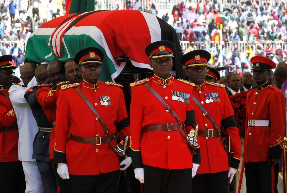 Kenya pledges 'valley of peace' legacy as veteran leader Moi buried