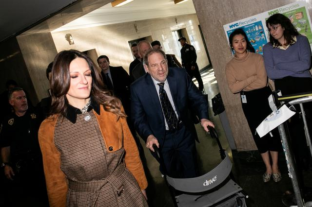 Film producer Harvey Weinstein arrives with his attorney Donna Rotunno at New York Criminal Court for his sexual assault trial in the Manhattan borough of New York City, New York, U.S., February 14, 2020. REUTERS/Jeenah Moon