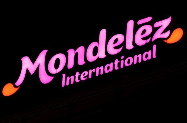 FILE PHOTO: The logo of Mondelez International is seen on an office building in the Glattpark district in Opfikon, Switzerland October 2, 2018.  REUTERS/Arnd Wiegmann/File Photo