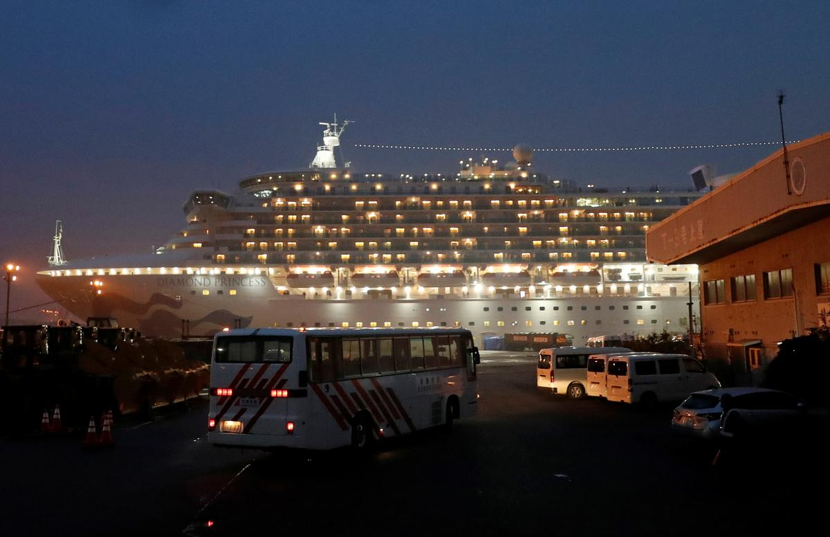 Virus spreads on ship in Japan, American passengers set to disembark