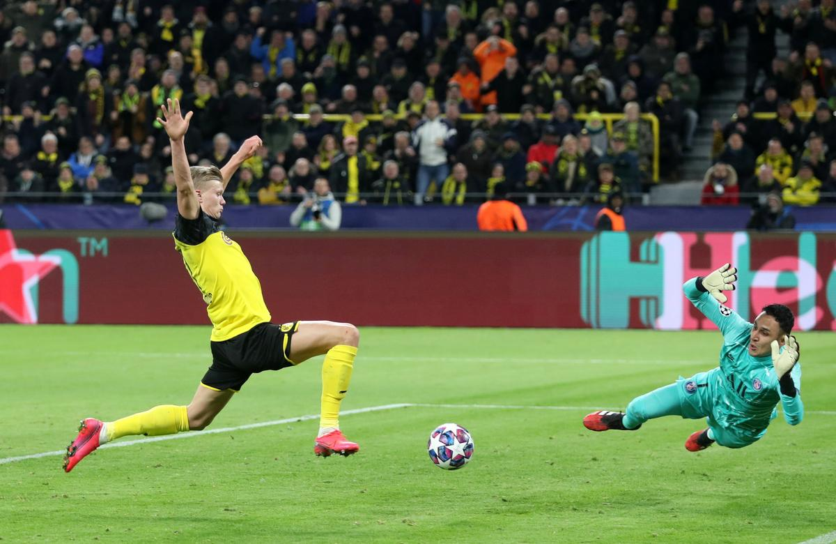 Sensational Haaland gives Dortmund 2-1 win over PSG
