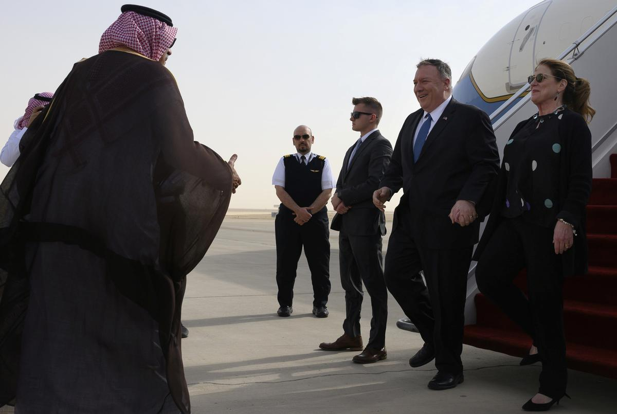 Pompeo in Saudi Arabia to talk Iran, economy and human rights