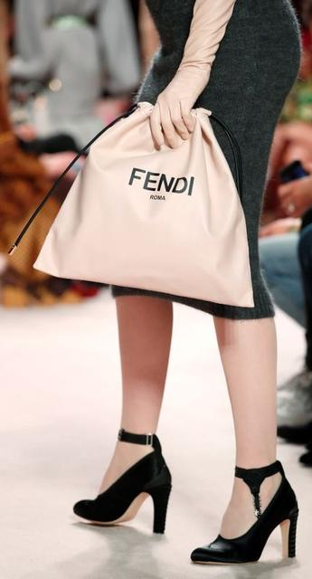 A bag presented by a model is seen in detail from the Fendi Autumn/Winter 2020 women collection during Milan Fashion Week in Milan, Italy, February 20, 2020. REUTERS/Alessandro Garofalo