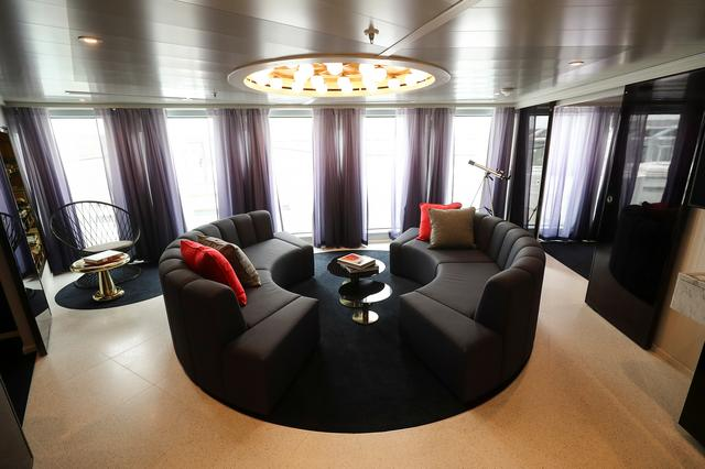 The Mega Rockstar suite is seen on the Virgin Voyages Scarlet Lady cruise liner at Dover Port in Dover, Britain, February 21, 2020. REUTERS/Simon Dawson