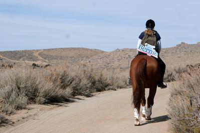 Bernie Sanders supporter canvasses Nevada on horseback