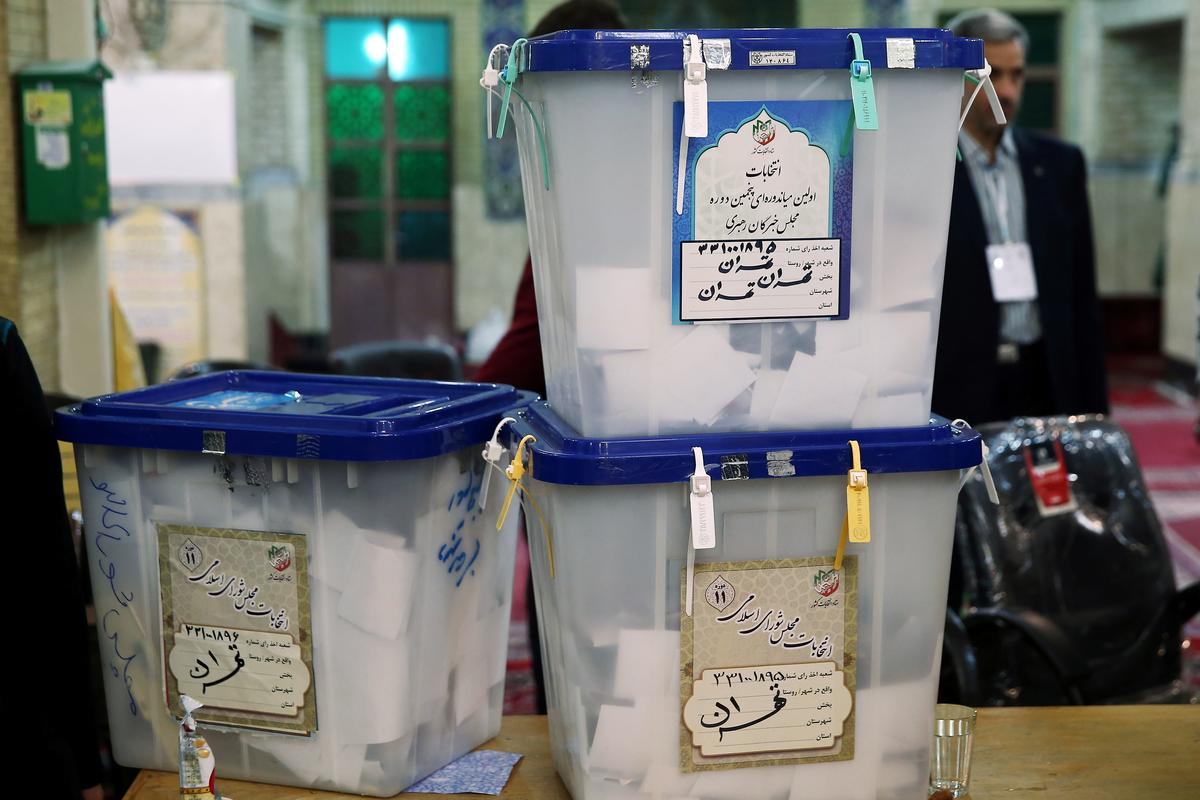 Iran counts votes in election stacked in favor of hardliners