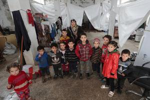 Biggest exodus of Syria's nine-year war overwhelms relief agencies