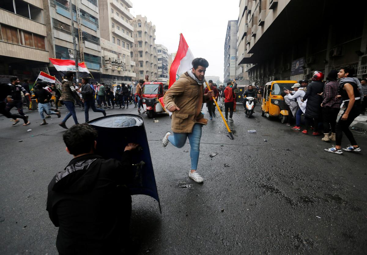 Iraqi security forces kill protester in Baghdad: police sources