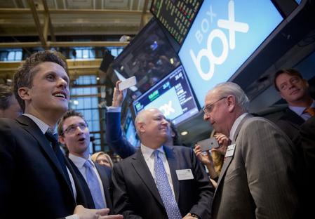 Box forecasts strong first-quarter revenue; shares up