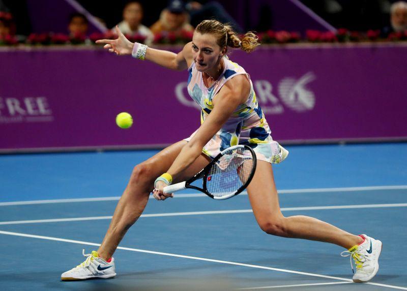 Kvitova overcomes tenacious Barty to set up Sabalenka final in Doha