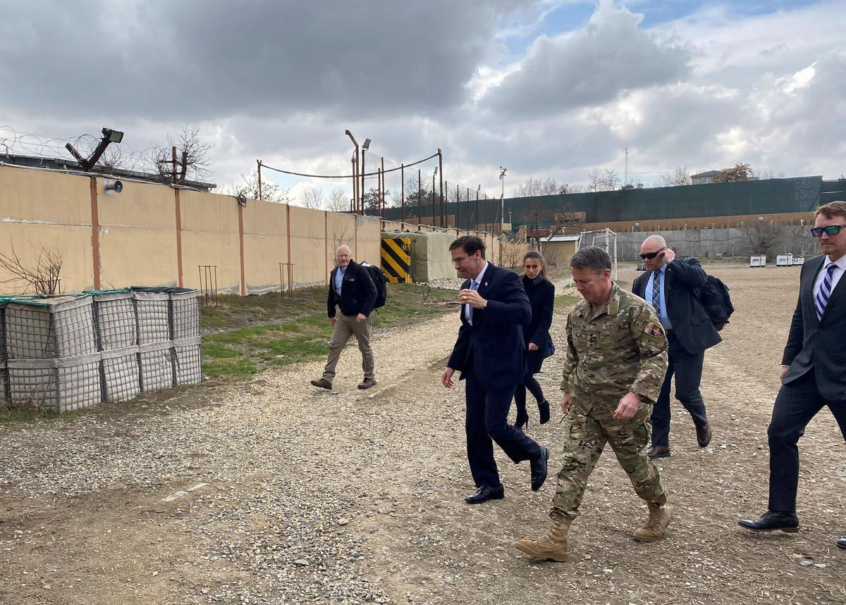 Pentagon chief lands in Afghanistan ahead of U.S., Taliban deal