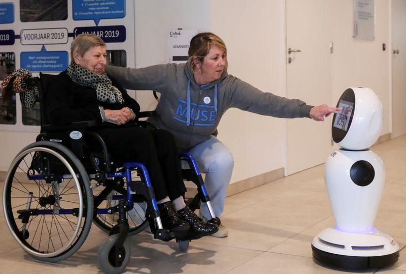 Belgian video-calling robots to keep elderly connected during coronavirus