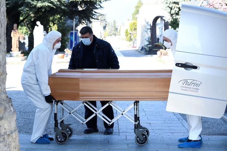 italy coranavirus coffin ile ilgili görsel sonucu