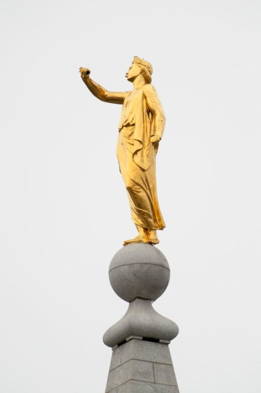 Utah Earthquake Knocks Trumpet from Hand of the Statue of Moroni Atop Mormon Temple