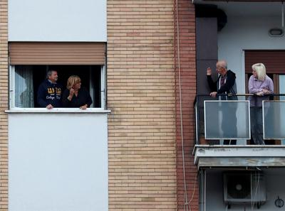 Italy's windows, balconies and rooftops amid coronavirus