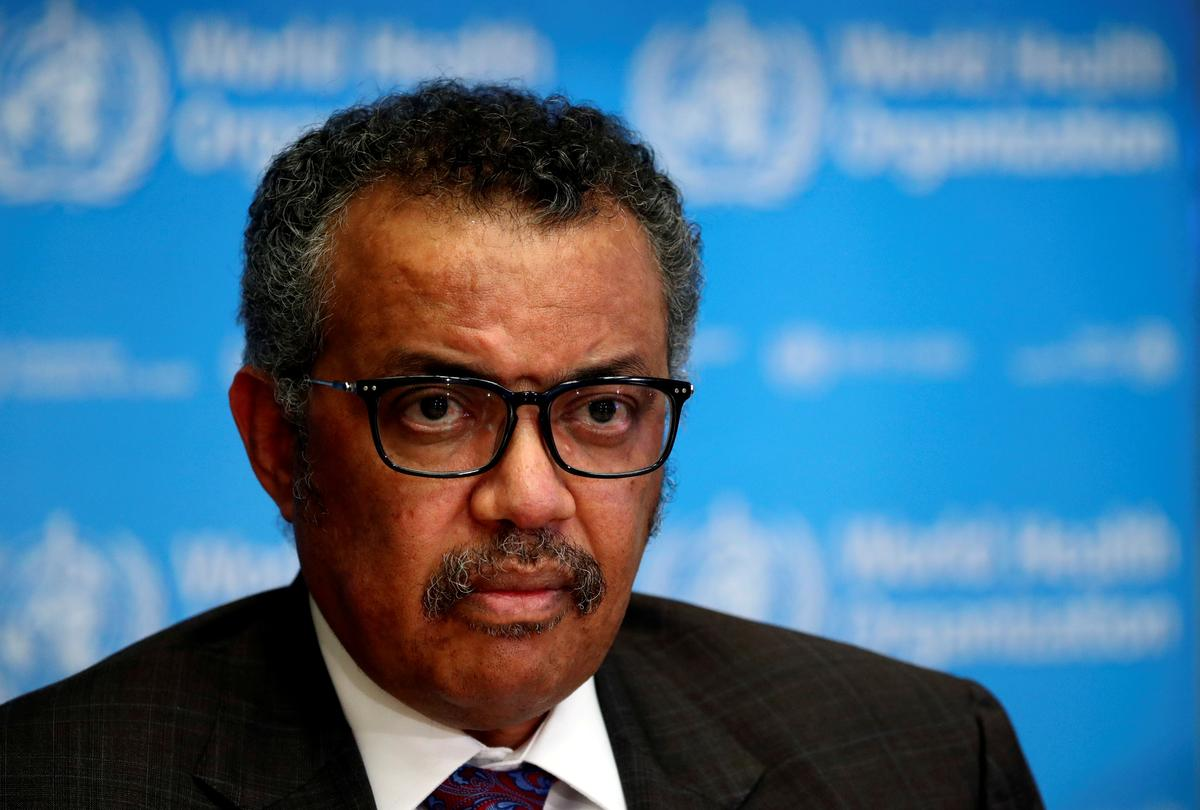 WHO chief urges G20 to boost production of protective gear against virus