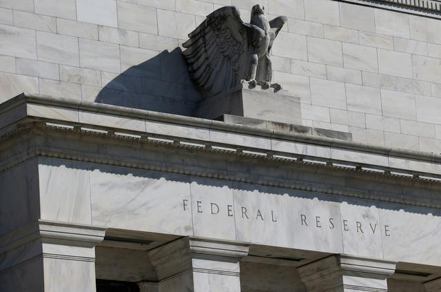 FILE PHOTO: Federal Reserve Board building on Constitution Avenue is pictured in Washington, U.S., March 19, 2019. REUTERS/Leah Millis
