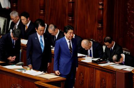 Japan's Abe, deputy avoid joint meetings to cut coronavirus risk as lockdown pressure builds
