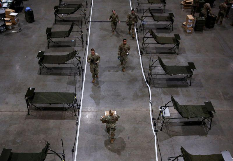 U.S. Army rolls into Seattle with field hospital built for combat