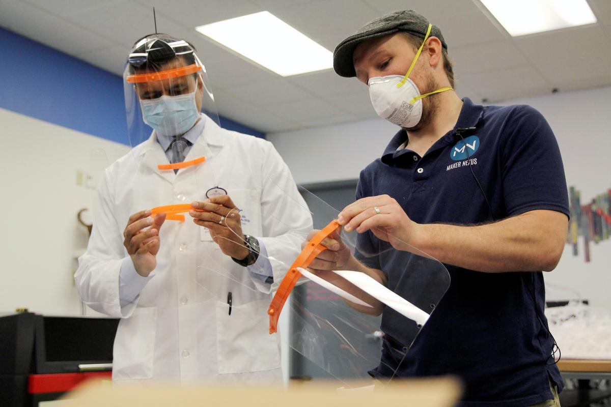 3D printers forge face shields for fight against the coronavirus