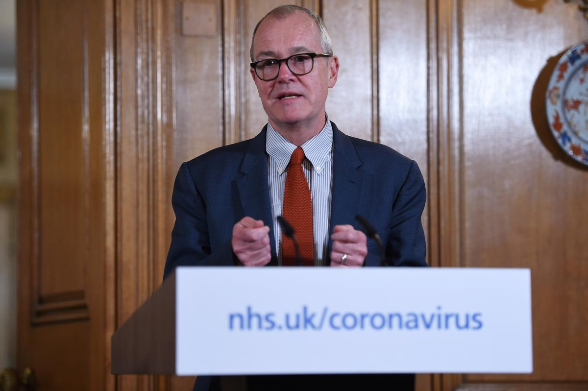 UK coronavirus cases not accelerating but too early to call a peak - chief science adviser
