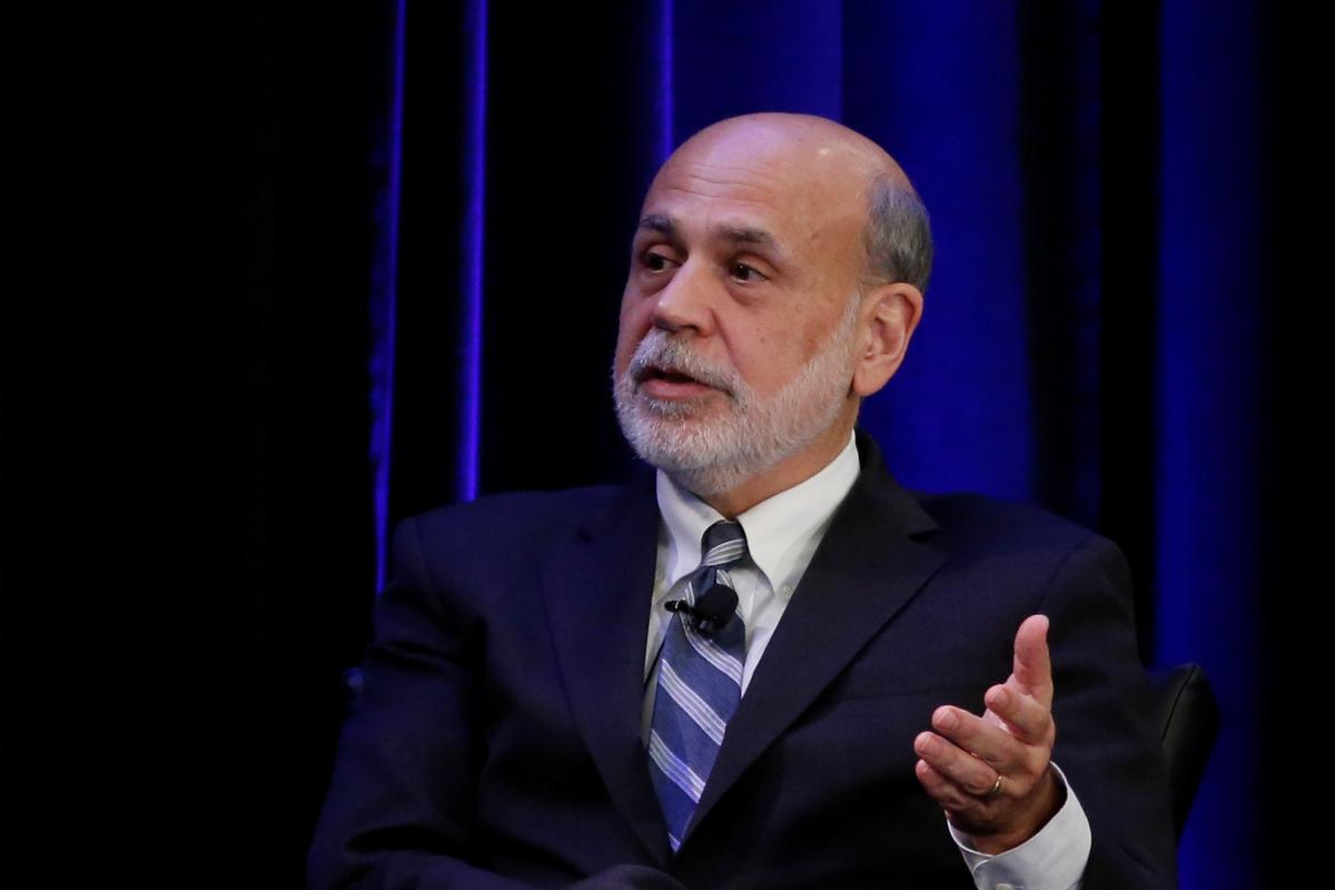 Former Fed chief Bernanke sees bad year, no quick recovery