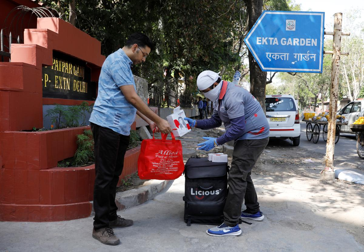 As delivery workers emerge as frontline soldiers, India's government warms to e-commerce