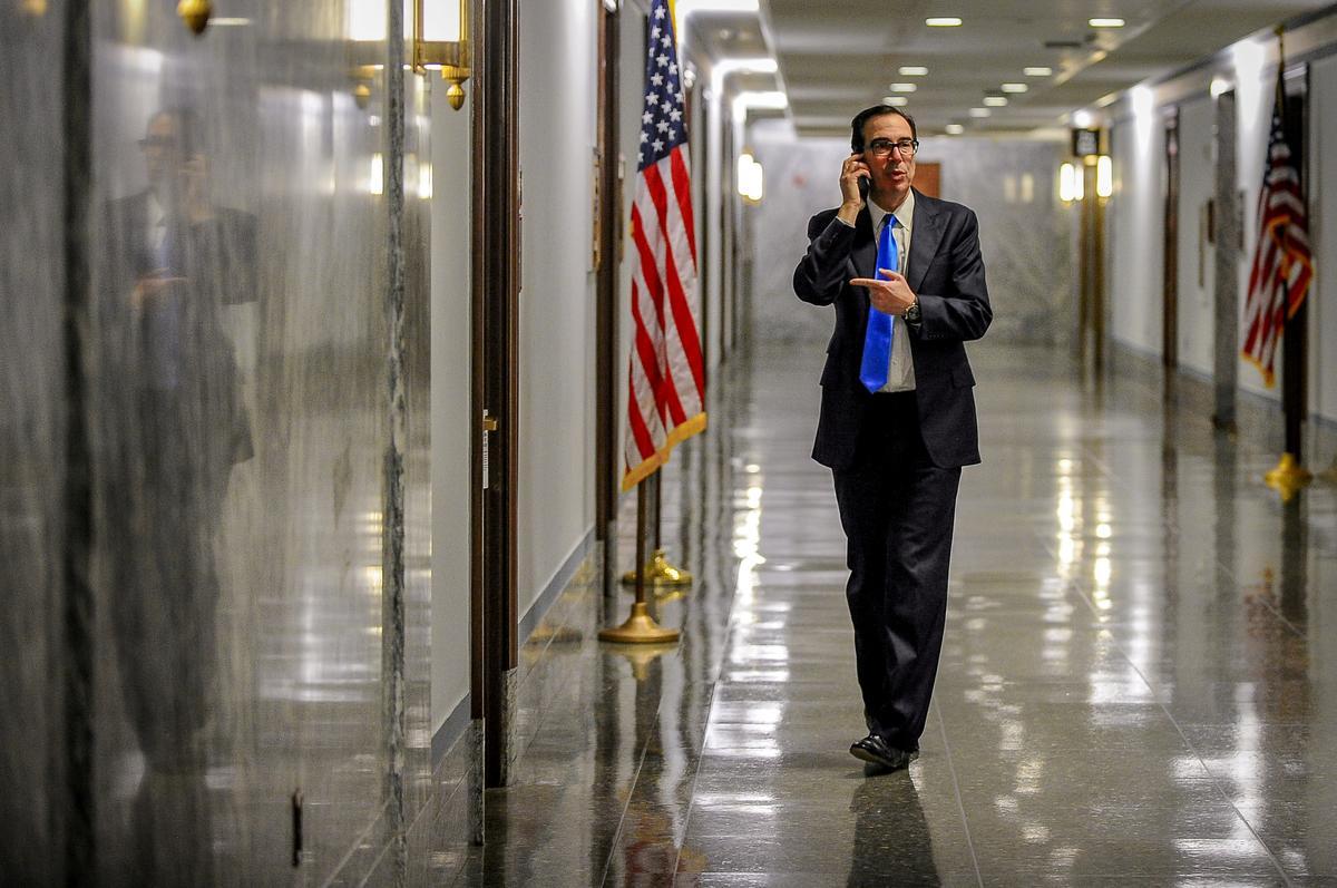 U.S. Treasury chief to brief Trump on aviation aid review