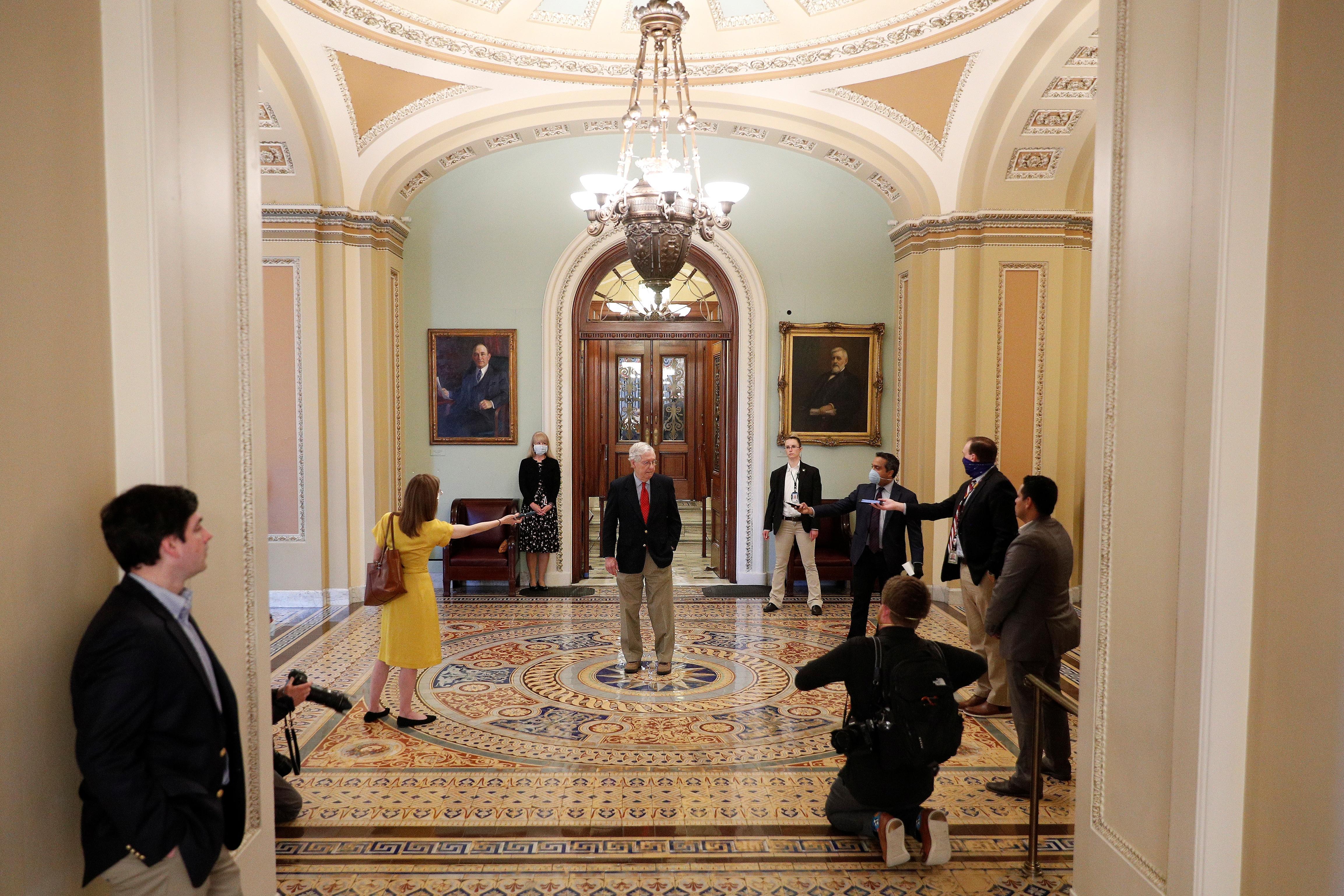 Le Congrès américain en pourparlers sur l'aide aux petites entreprises contre le coronavirus après un affrontement partisan