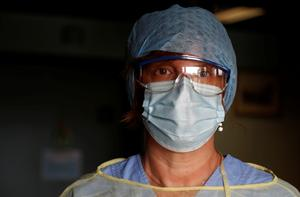 Portrait of a frontline coronavirus worker
