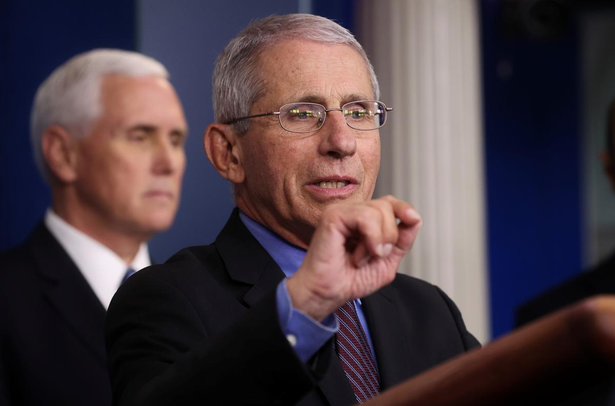 U.S. health expert Fauci: 'Now is no time to back off'