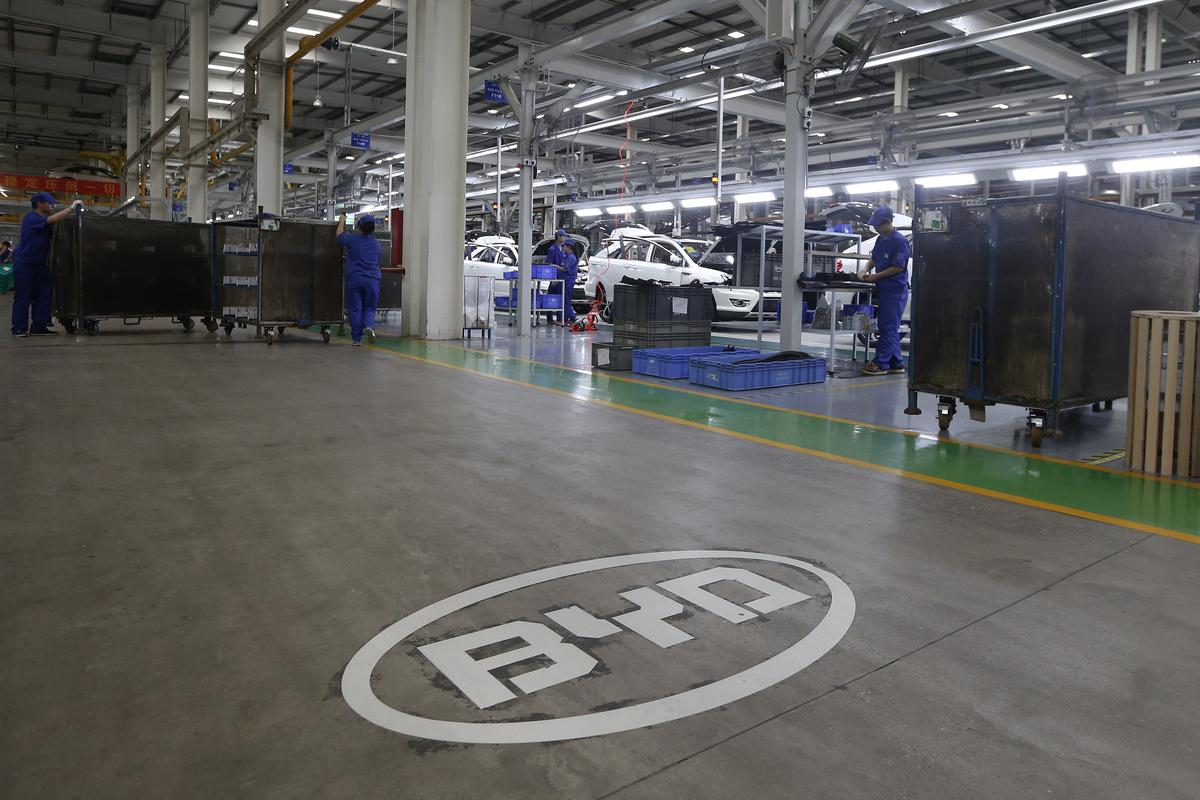 Chinese electric vehicle maker BYD's profit slumps after subsidy cuts