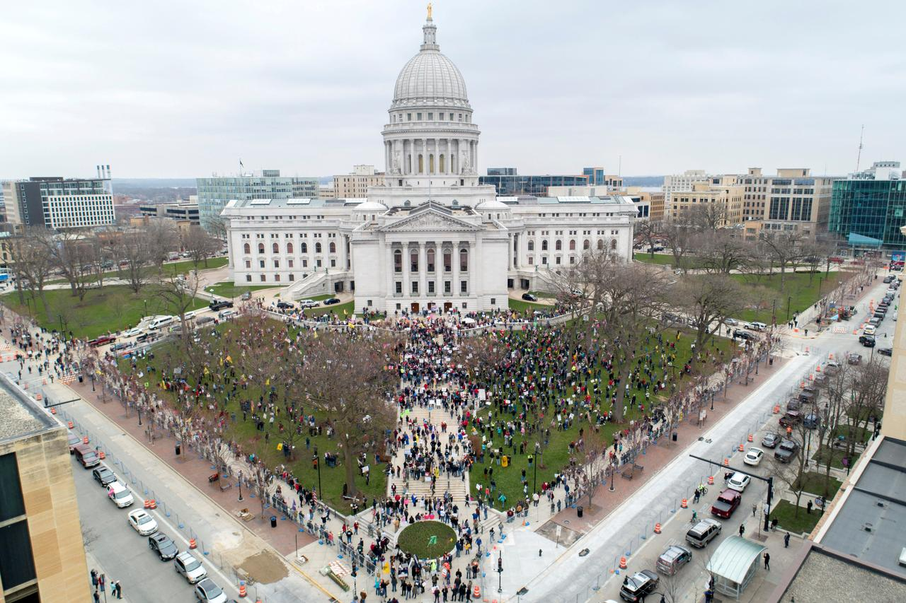 Protesters demand Wisconsin governor to reopen state as ...
