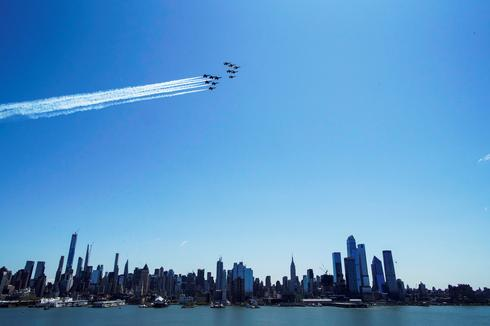 Military jets flyover NYC to thank frontline workers