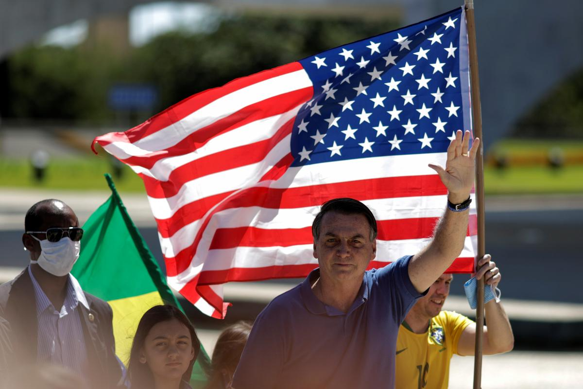 Brazil's Bolsonaro headlines anti-democratic rally, amid alarm over handling of virus