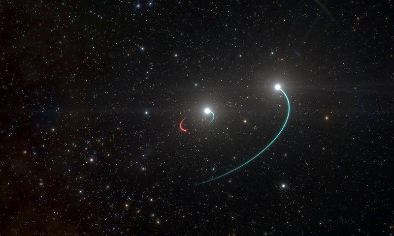 Closest black hole to Earth has two partners in surprising celestial marriage