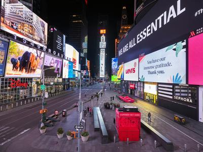 Empty streets of New York City
