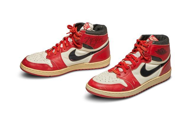 Jordan's first Air Jordan sneakers sold for record $560,000 at ...
