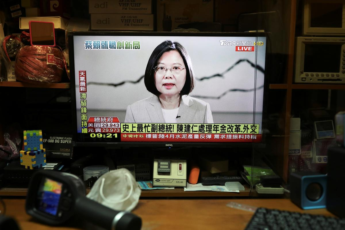 Taiwan president rejects Chinese rule, calls for talks to coexist