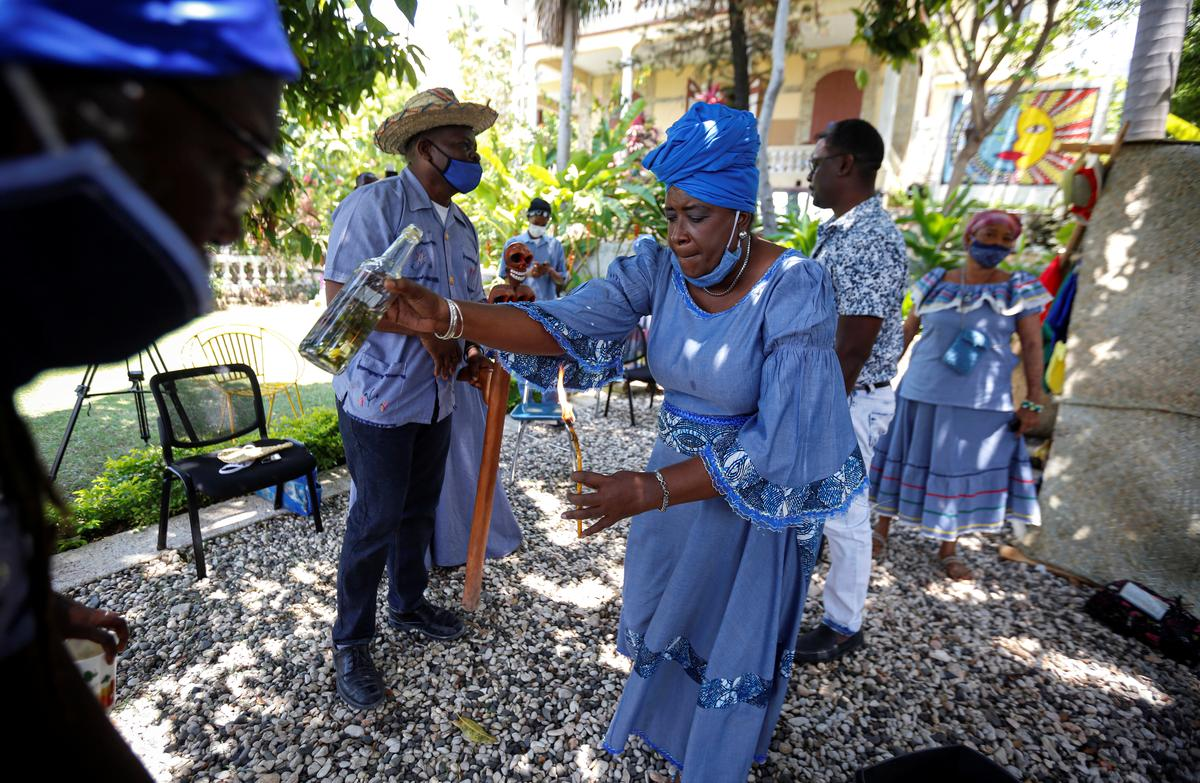 Haiti voodoo leaders prepare temples for coronavirus sufferers 65