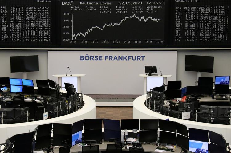 GLOBAL MARKETS-German sentiment survey boosts stocks, Europe focuses on recovery fund