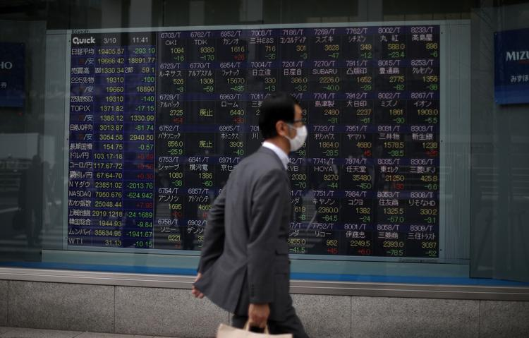 GLOBAL MARKETS-Asian stocks turn red as Hong Kong tensions sour mood