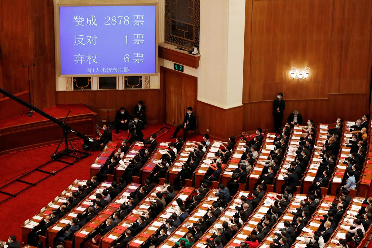 China's parliament approves Hong Kong national security bill