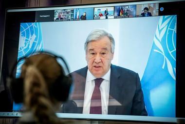 Imagen de archivo del secretario general de la ONU, Antonio Guterres,...