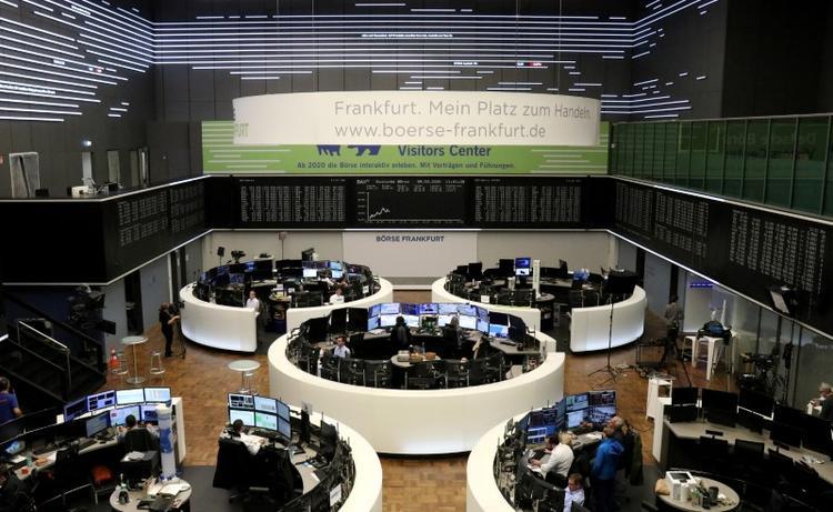 Global stocks scale three-month peak, dollar sags on reopening joy
