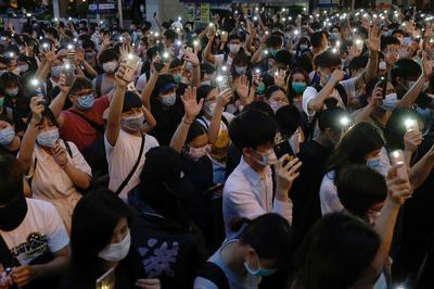Protesters mark million-people march anniversary in Hong Kong